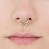 Tribal Septum Ring for pierced nose. septum piercing. brass septum ring. tribal brass septum ring. tribal septum. brass septum. septum
