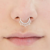 septum piercing. brass septum ring. tribal septum ring. septum jewelry.