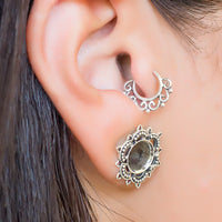Silver tragus piercing. cartilage hoop. cartilage jewelry. tragus earring. cartilage earring. helix hoop.
