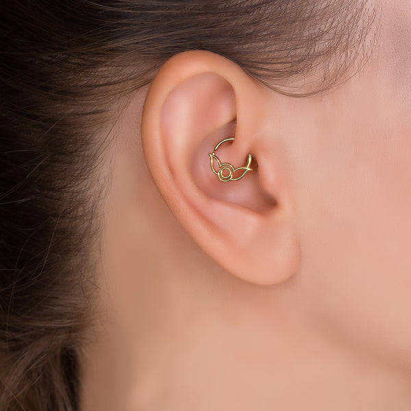 Indian Daith Hoop Earring