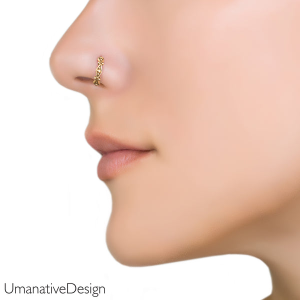 e34e3f281 Tiny Tribal Nose Ring – Umanative Design