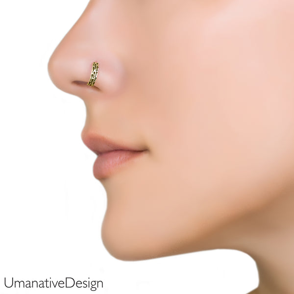 Tiny Gold Nose Ring