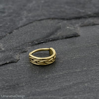 Twisted Wire Brass Nose Ring