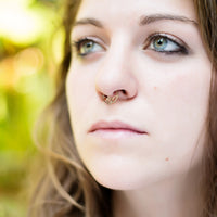 14k Gold Plated Septum Ring for Pierced Nose