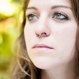 Dainty Silver Tribal Fake Septum Ring