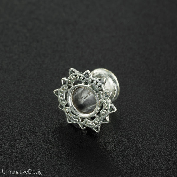 Silver Lotus Ear Tunnels.