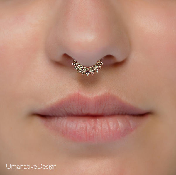 Tiny Fake Brass Septum Ring