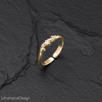 Tiny Brass Toe Ring