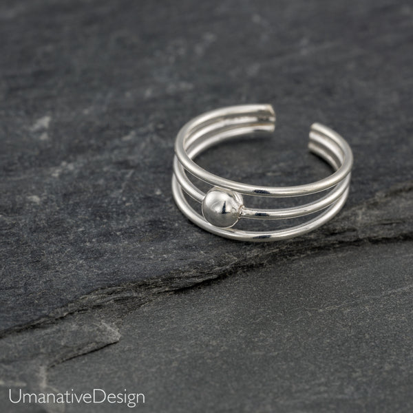 Sterling Silver Tribal Toe Ring