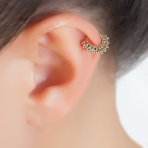 Indian Style Tragus Piercing