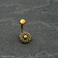 Tribal Flower Belly Ring