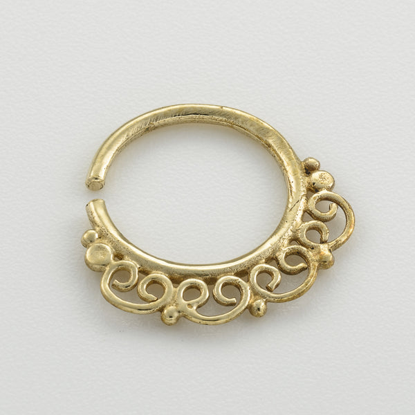 bf9a73f5f Tiny Brass Indian Hoop Earring – Umanative Design