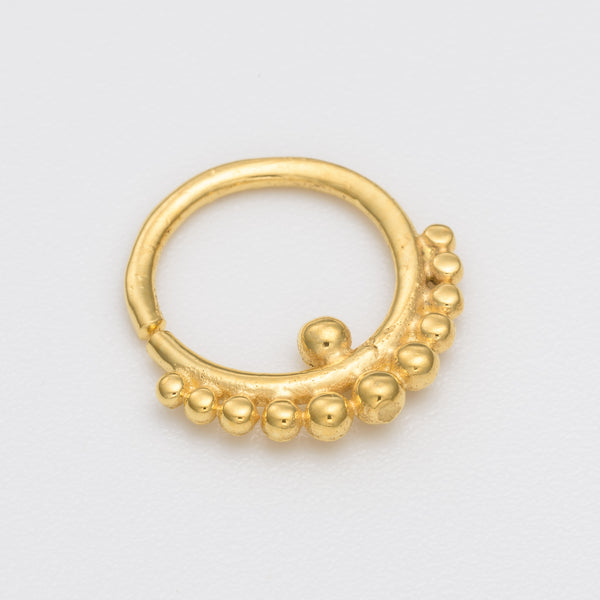 4ed71a101 Tribal Tiny Gold Hoop Earring – Umanative Design