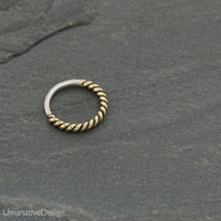 Twisted Wire Nose Ring For Pierced Nose