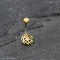Flower Of Life Belly Button Ring