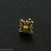 Rose Flower Brass Nose Pin