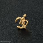 Gold Indian Om Nose Pin