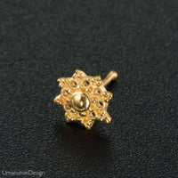Gold Flower Nose Stud