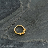 Tribal Brass Septum Ring For Pierced Nose