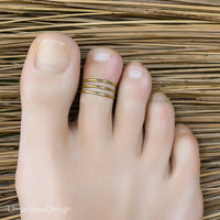 Pinky Golden Toe Ring