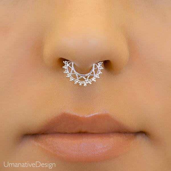 Sterling Silver Septum Piercing For Pierced Nose