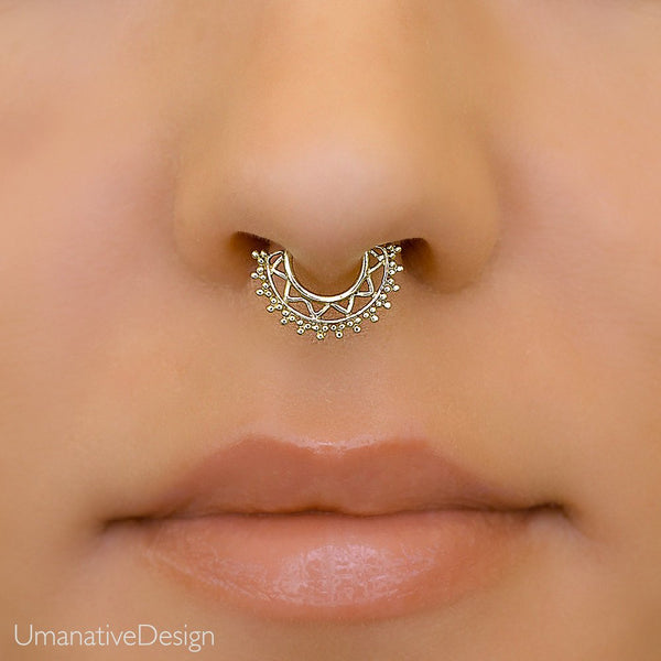Brass Septum Piercing For Pierced Nose
