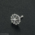 Tribal Sterling Silver Nose Stud