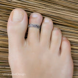 Bohemian Sterling Silver Toe Ring