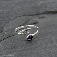 Sterling Silver & Amethyst Toe Ring