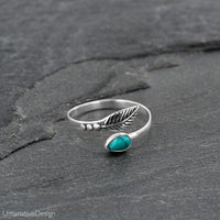 Sterling Silver & Turquoise Toe Ring