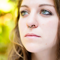 septum piercing. tribal septum ring. septum jewelry. Active