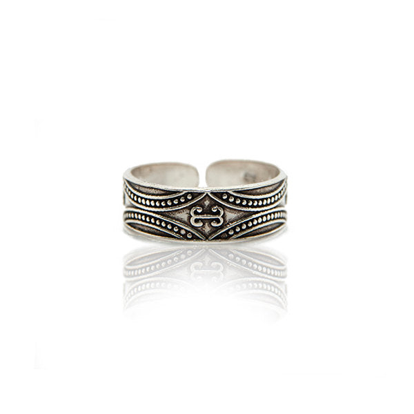 Tribal Sterling Silver Toe Ring