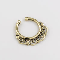 fake Brass Septum Ring. brass septum ring. indian septum ring. septum piercing. fake septum. septum jewelry. fake septum ring.