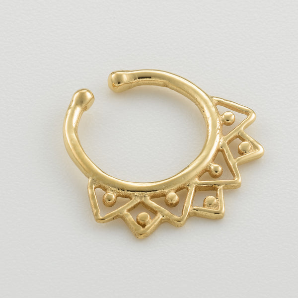 Tiny Gold Fake Septum Ring