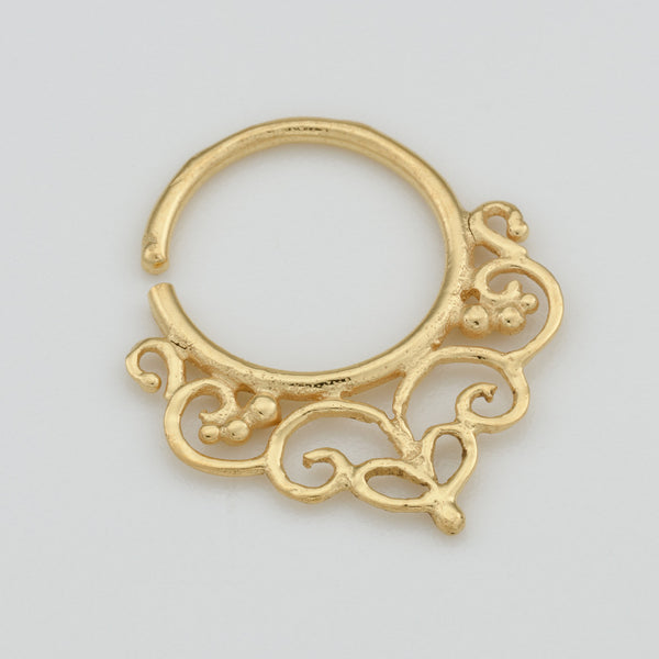 Brass Septum Ring for pierced nose. brass septum ring. tribal septum ring. septum piercing. indian septum ring.septum jewelry.