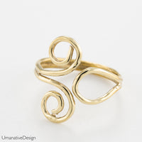 brass toe rings