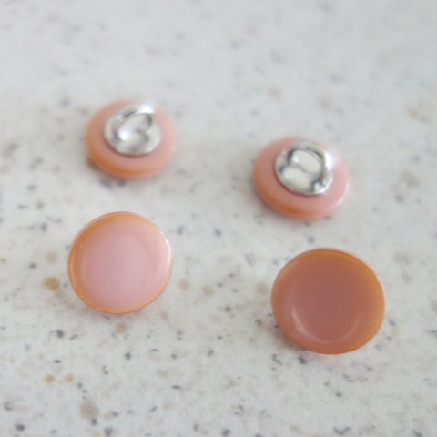 Boutons émaille rose 10 mm