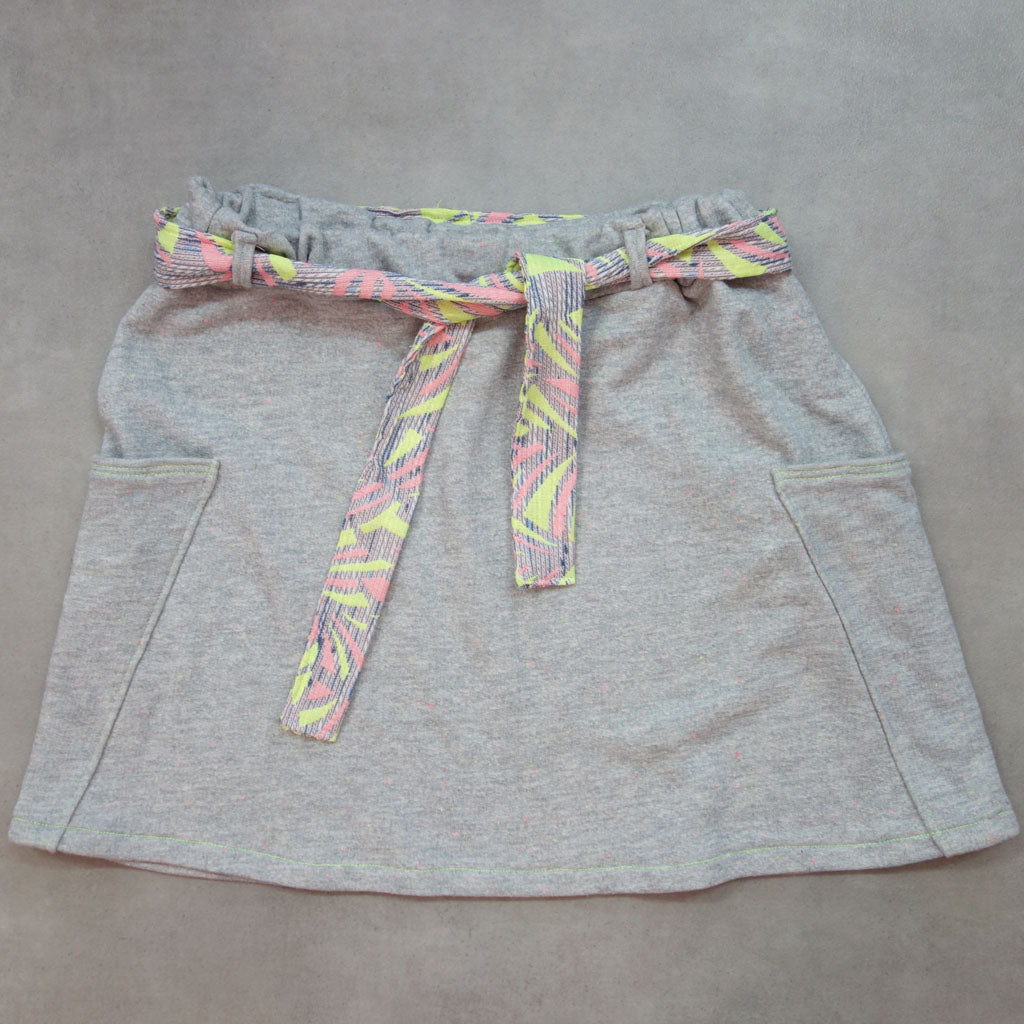 Jupe Candy sweat gris fluo