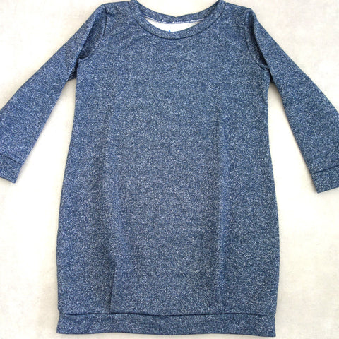 Robe sweat bleu pailleté 10 A