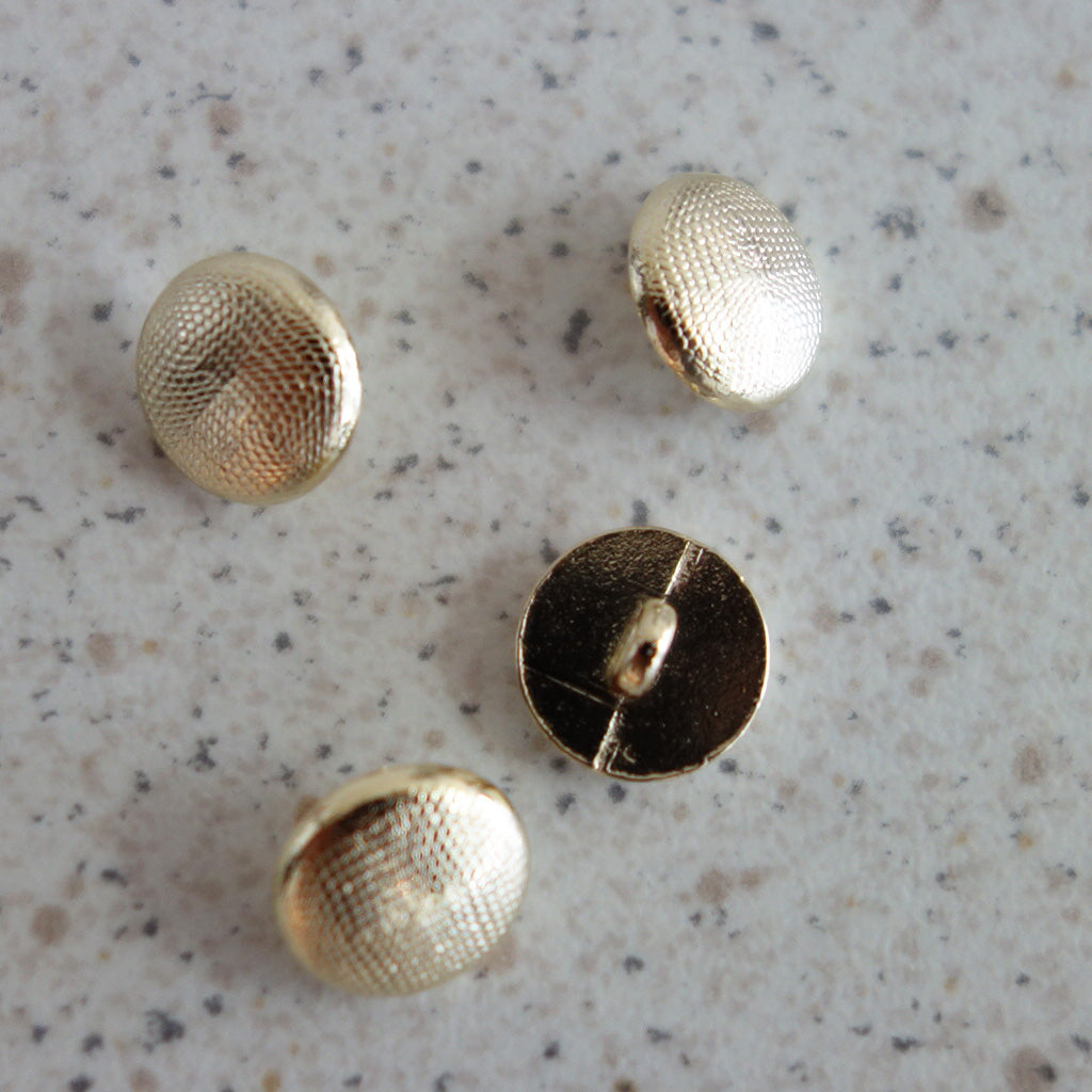 Boutons rond or 10 mm