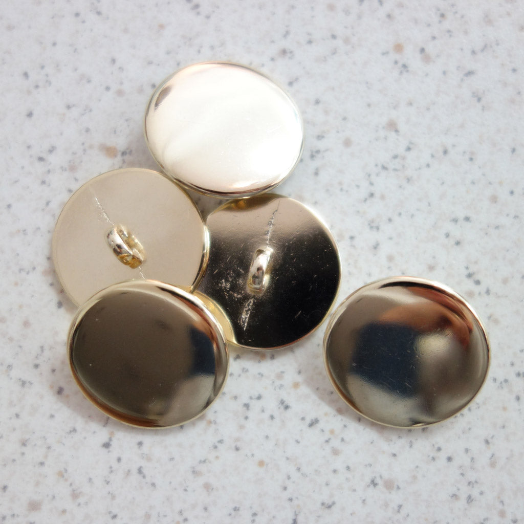 Boutons métal or ultra plat 22 mm
