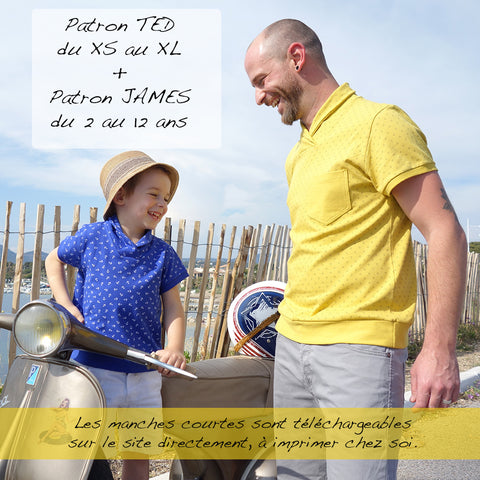 Duo : Patron Homme Ted et Patron Enfant James