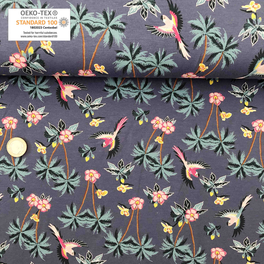 Jersey gris tropical perroquet