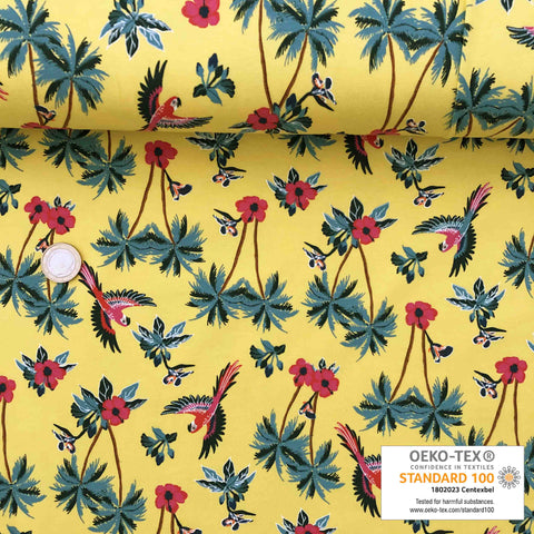 Jersey jaune tropical perroquet