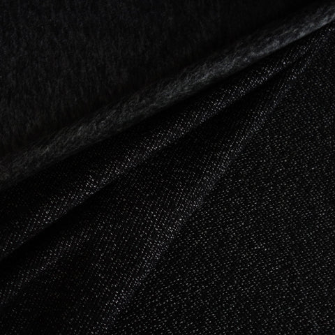 Tricot aspect lainage chiné noir