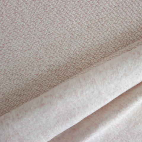 Tricot aspect lainage chiné rose poudré