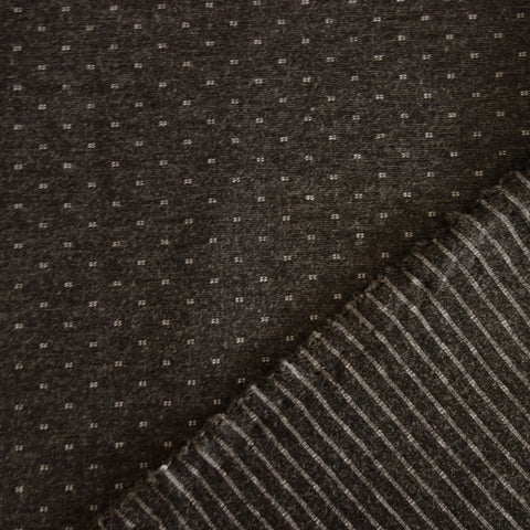 Jersey Maille milano gris anthracite petits pois