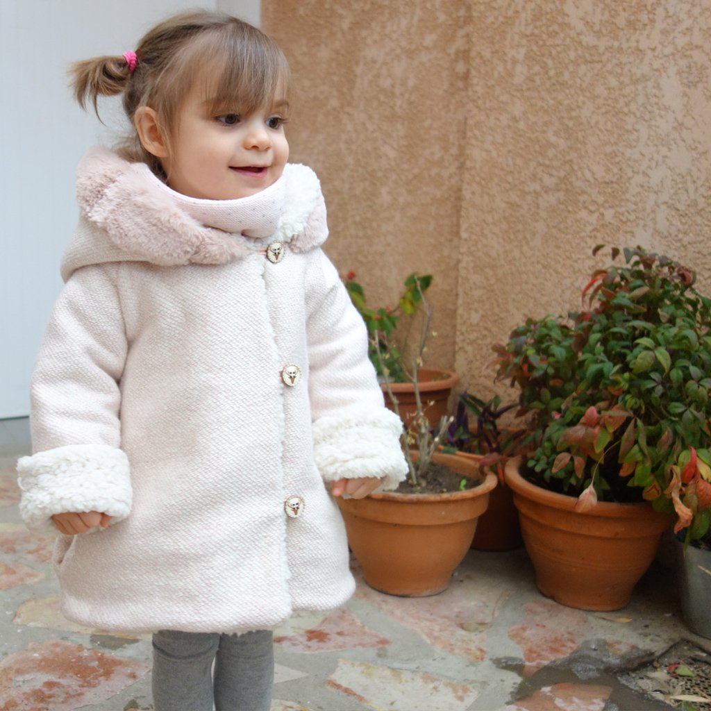 Manteau Cocoon rose