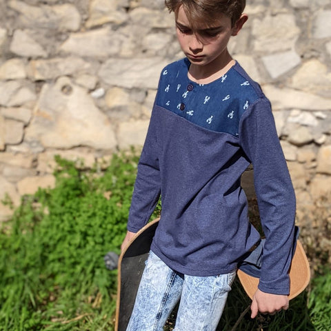 T-shirt Scotty bleu à motif homard - 11 ans