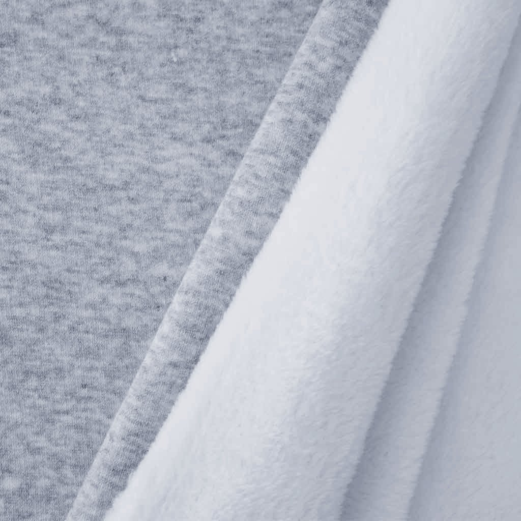 Tissu sweat double face gris chiné